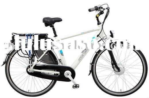 Light weight mountain electric bicycle with battery hidden in rack