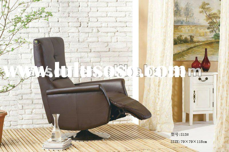 MODERN LUXURY LEATHER SWIVEL RECLINER CHAIR FOR LIVINGROOM OR BEDROOM(ABNS13#)