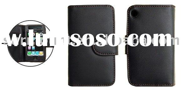 Magnetic Closed Leather Case with Credit Card Holder for iPhone 3G
