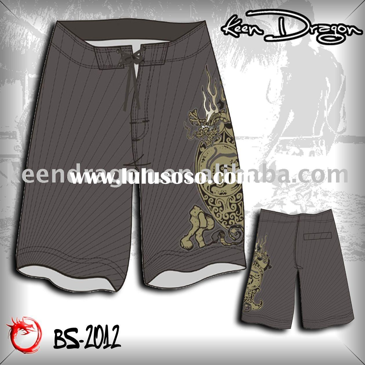 Men's fashion apparel 100% polyester printed cheap board shorts