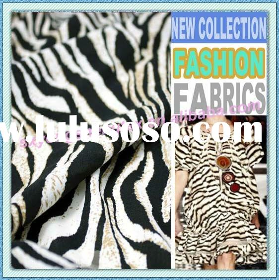 New Collection Zebra Stripe Print Apparel Fabric Garment Fabric Animal Print Fabric For Clothing