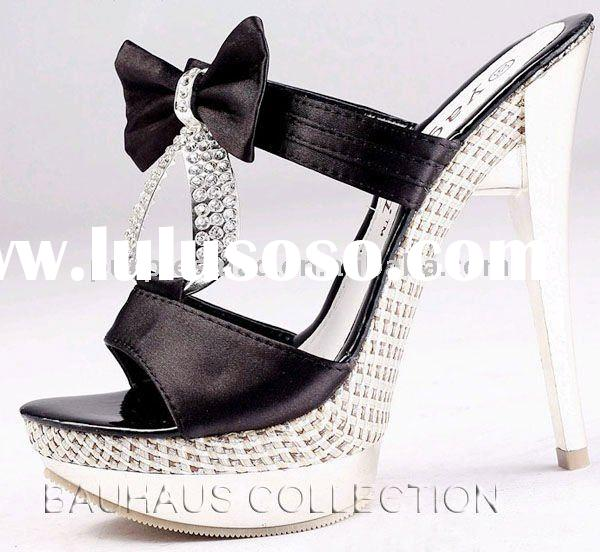 New Design Ladies Diamond Platform High Heels Shoes Fashion Dress Shoes