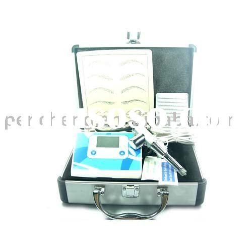 Permanent Makeup LCD Tattoo Kit Gun Machine Ink Pet Vet