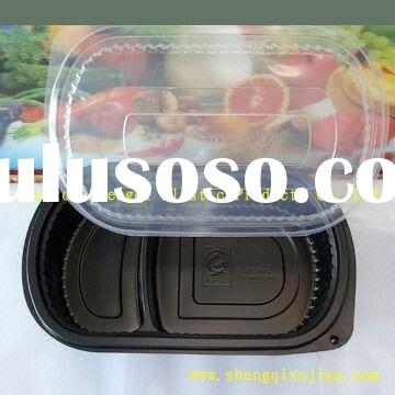 Plastic Food Compartment Containers with Lids