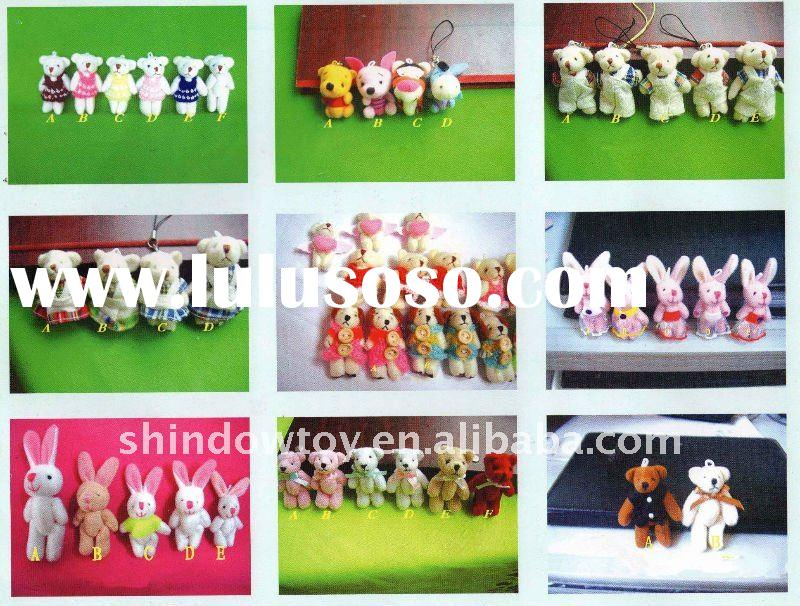 Plush mini teddy bear / Small plush animal toys ( 3cm ~ 10cm)