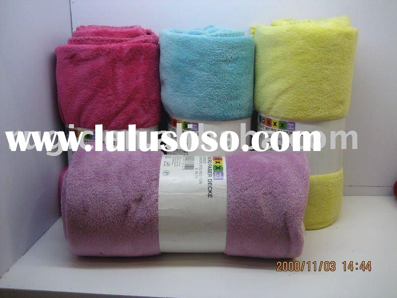 Plushed and Plaid Soft Coral Fleece Blanket