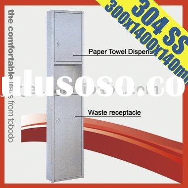 Prefect Toilet paper dispenser made of 1.0mm thickness AISI 304 stainless steel ,350 x 1,400 x 140mm