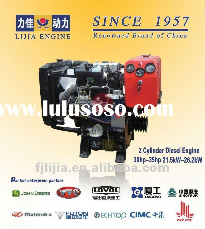 Promotion!!! Factory Direct!!! 2 Cylinder Stationary Power Diesel Engine (30-35hp) Water Cooled Engi