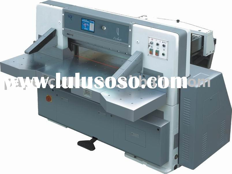 QZK780DH Touch screen single hydraulic double guide paper cutting machine(guillotine)