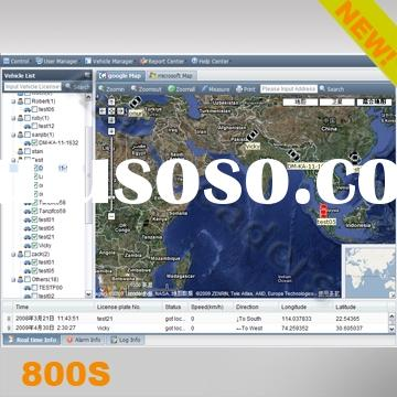 Real time GPS fleet management with free google and microsoft map