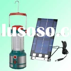 Rechargeable portable led camping lantern with Solar Panel