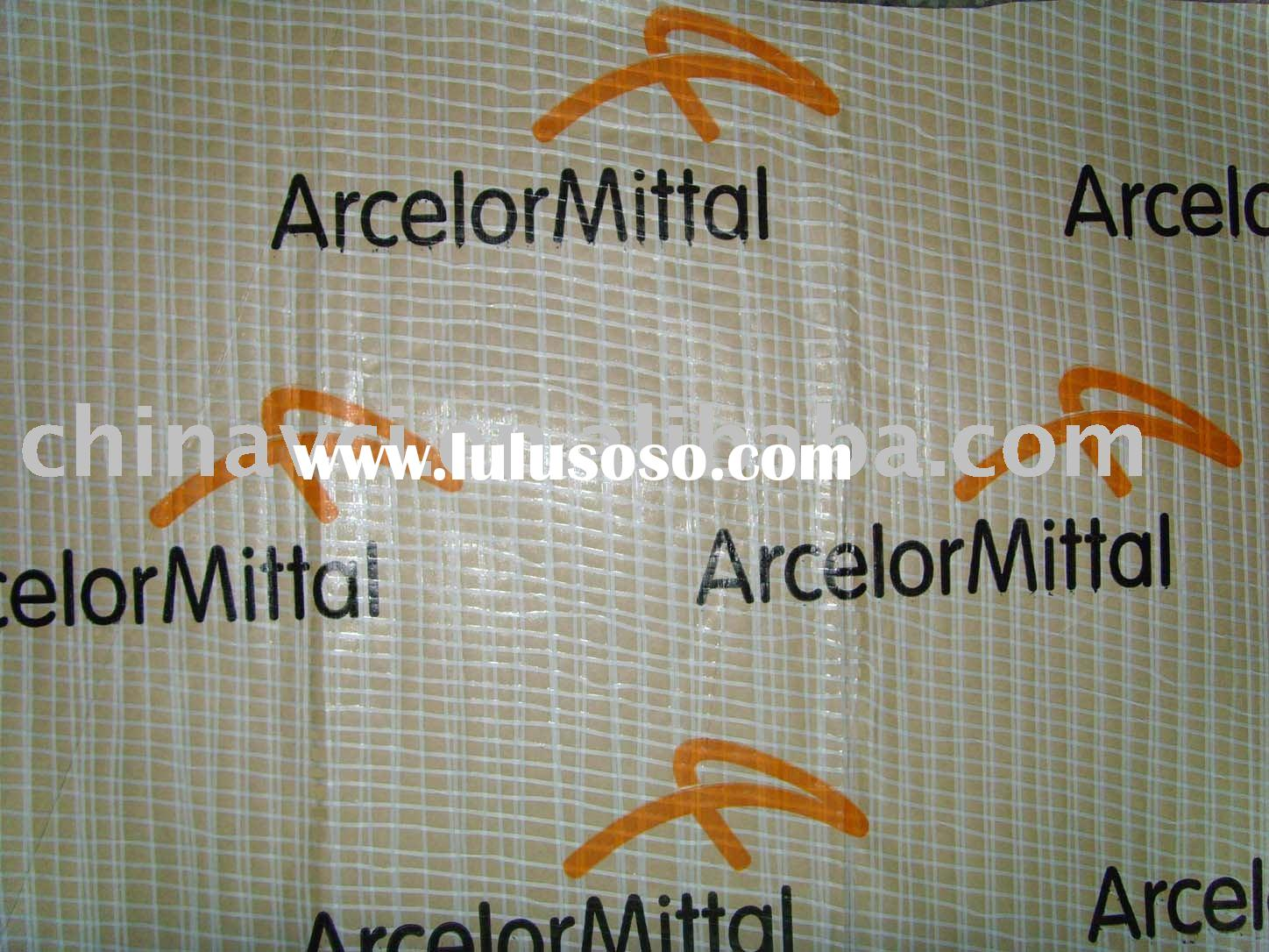 Reinforced wrapping material, steel wrapping paper