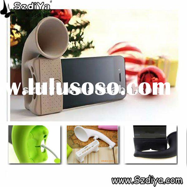 Silicone horn stand,speaker,holder,case for iphone 4