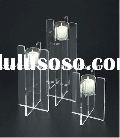Simple Design Clear Acrylic Candle Holders
