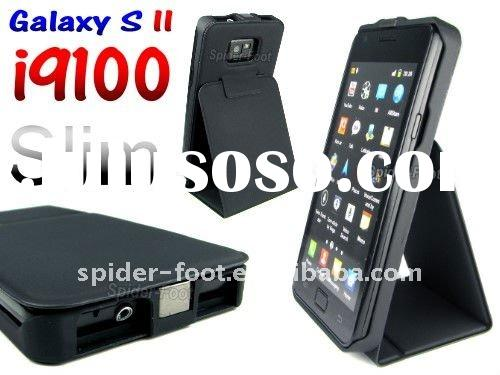 Slim PU Stand Leather case for Samsung GT-i9100 Galaxy S2 II