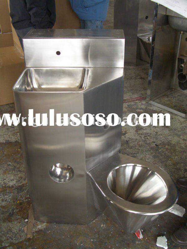 Stainless steel Toilet with basin