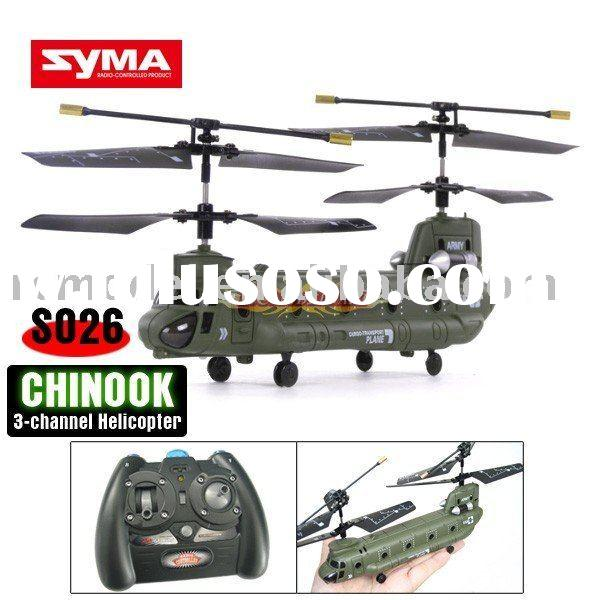 Syma S026G Micro Mini Chinook Cargo Transport RC 3CH RTF toy
