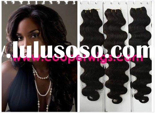 Top quality indian human hair weft in stock