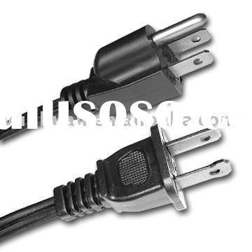 USA 3 core power cord American cable 3 pins 2 pins UL approval