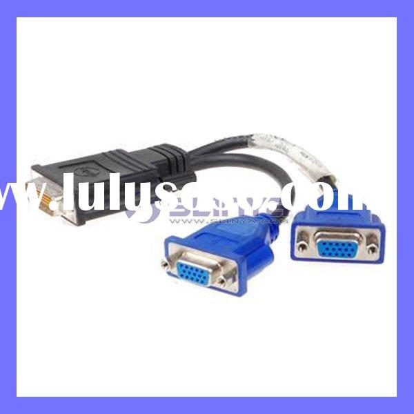 Video Y Splitter DMS-59 to Dual 15 pin VGA Cable