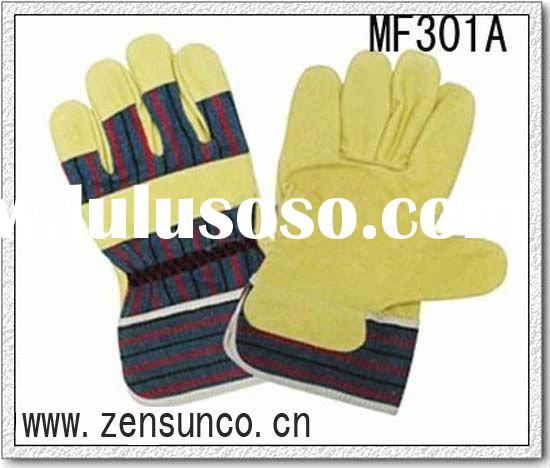 Welding glove with 10.5 inch length and Pig top grain leather
