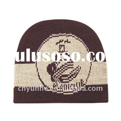 Wholesale Motorcycle Biker Beanie Double Jacquard Winter Hats And Caps