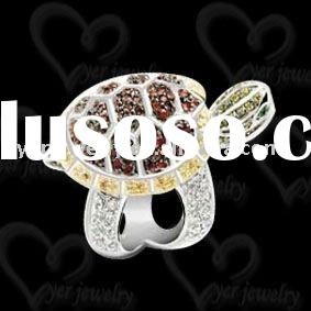 Wholesale fashion 925 sterling silver crystal animal rings jewelry