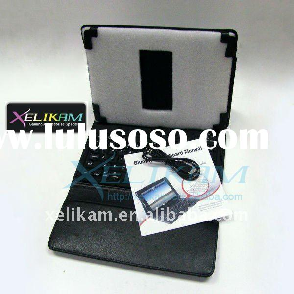 Wireless Bluetooth Keyboard for ipad/i phone with Leather Case