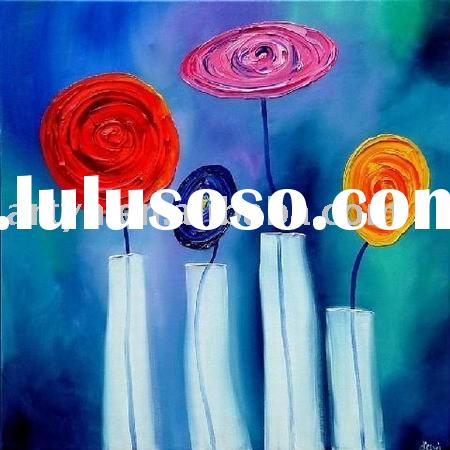 abstract flower oil painting on canvas
