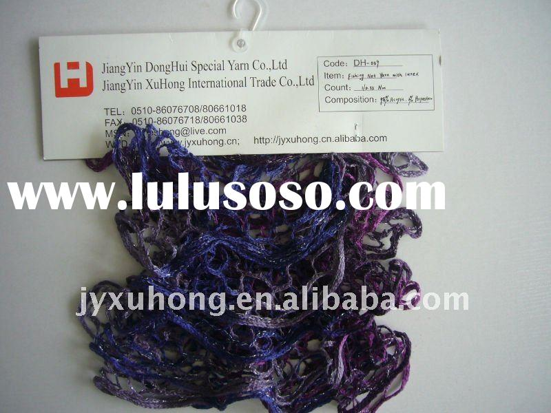 acrylic fancy mesh yarn used for hand knitting scarf