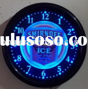 color changing LED wall clock as advertising item CL1035