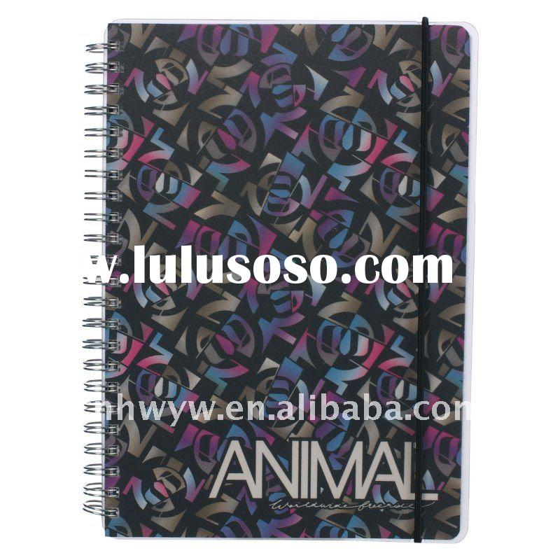 hardcover spiral notebook with elastic band