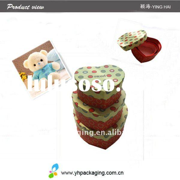 heart chocolate packaging for gift and food packaging(YINGHAI)