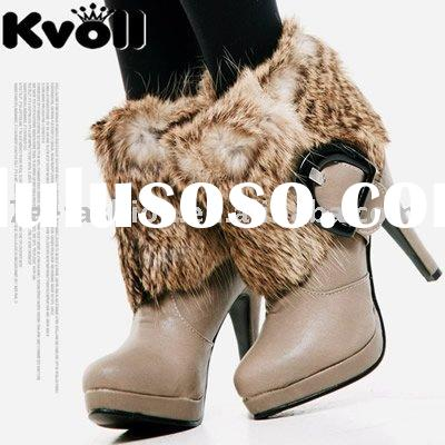 high heel fur boots collection small moq