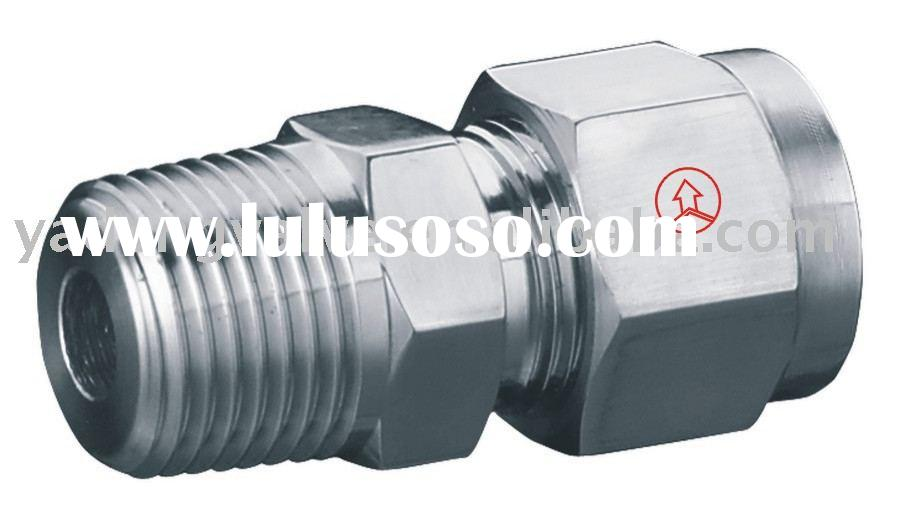 high pressure Male Connector,Straight Connector with Double Ferrules