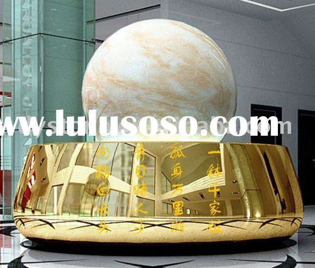 marble rolling sphere fountain