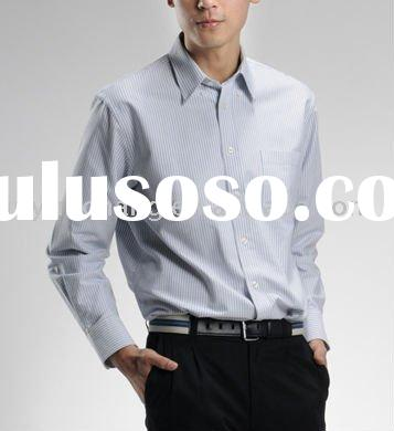 men's long sleeve casual slim fit stand collar shirt