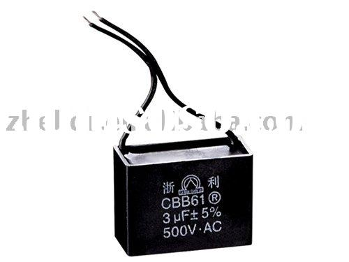 motor run fan capacitor-CBB61