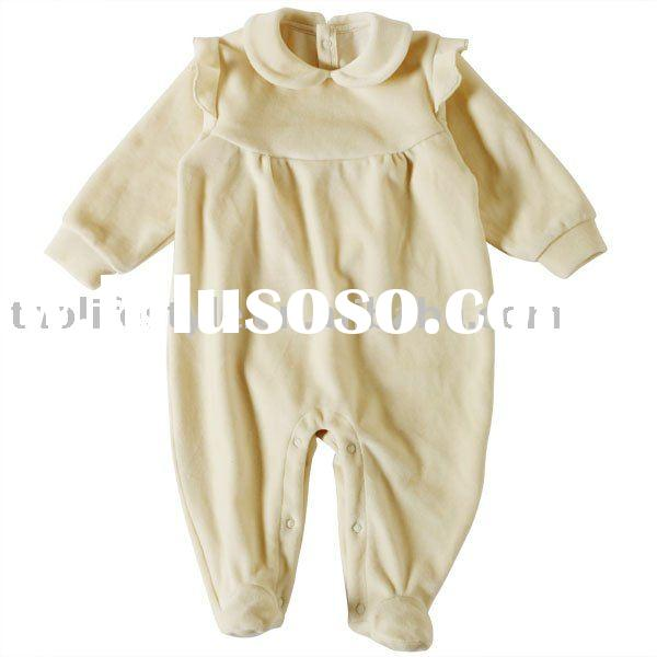 organic cotton long sleeve baby romper, baby clothes ,baby wear