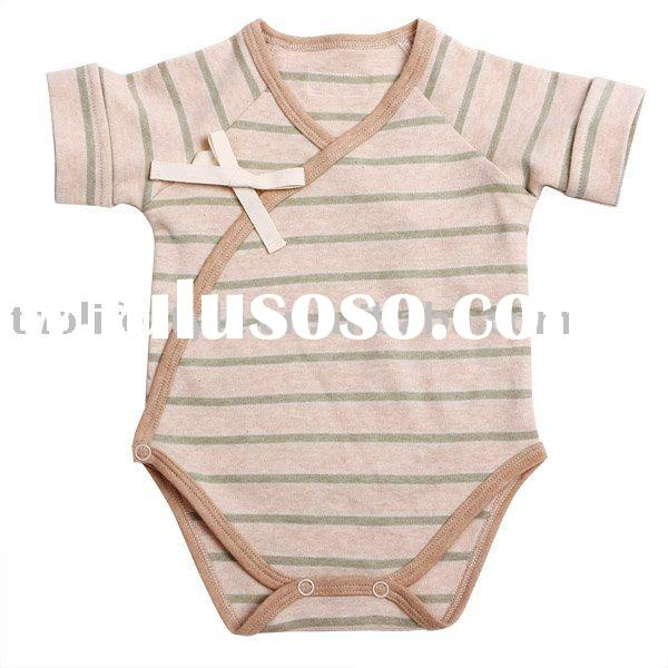 organic cotton short sleeve baby romper, baby clothes ,baby wear