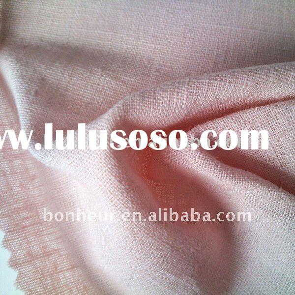 plain dyed woven cotton linen fabric