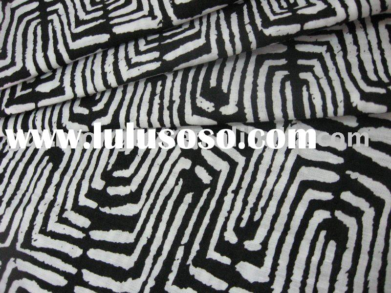 printed linen cotton fabric