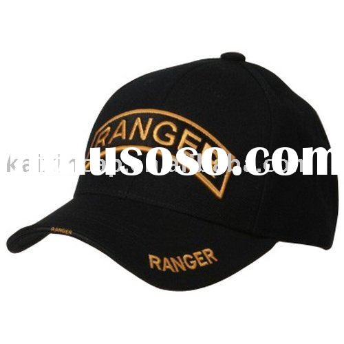 promotional leather baseball caps/embroidered cotton hats