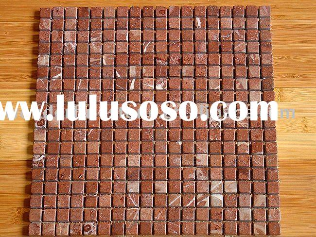 red marble mosaic tile