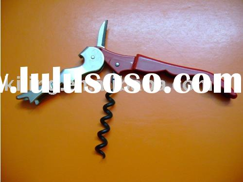stainless steel corkscrew wine opener