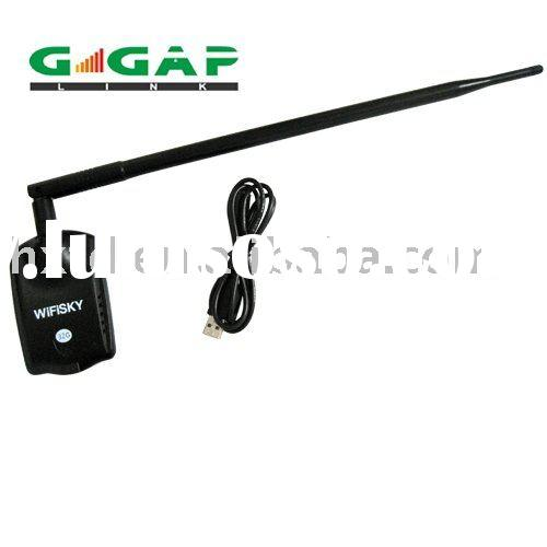usb 54mbps wireless network card 1500mw with 10dBi long dipole antenna