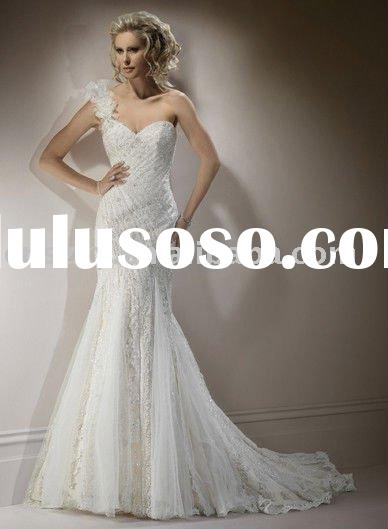 2011 New Design A-line all lace Wedding dress ---- maggie026
