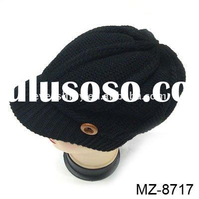 2011 latest stylish must-have warm grey charming knitted winter hats and caps