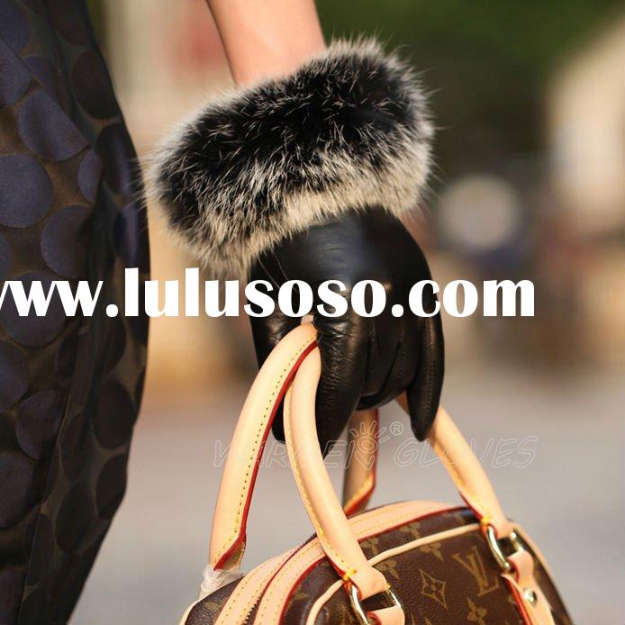 2012 Hot Ladies fashion winter leather glove