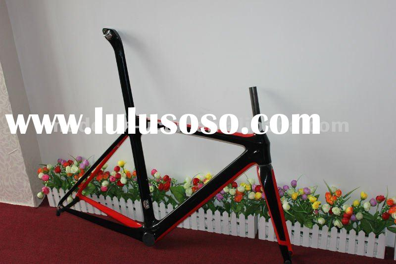 2012 full carbon bicycle frame,carbon road racing frameset, carbon road frameset, carbon aero bicycl